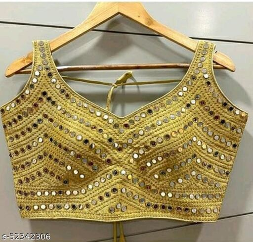 heavy thread, zari and sequence work and real mirror hand work Stitched Blouse