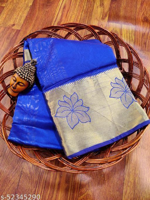 panthi womens cotton silk banarasi jacqurad saree