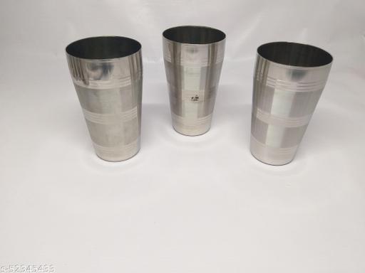 STEEL LASSI GLASSES,STEEL BIG GLASSES, STEEL BIG LASSI AND WATER GLASSES