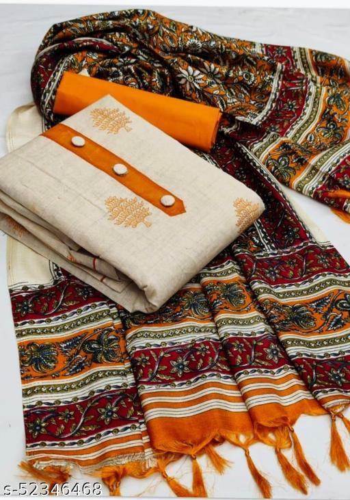 Khadi cotton Dress Material Suit  For Women