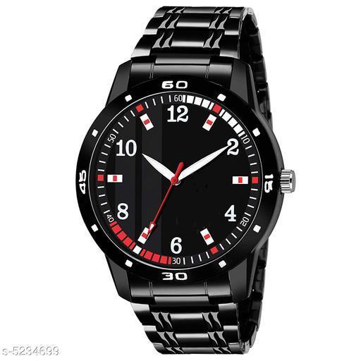VEKARIYA Casual Analogue Black Dial Black Strap Watch For Men - VKJR_61