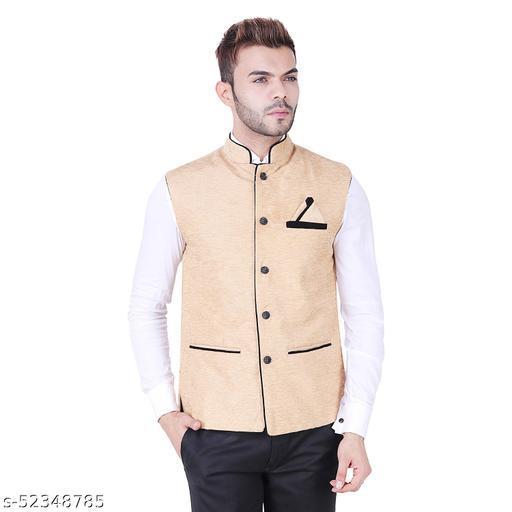 Udgam Men Nehru jacket_Creamm