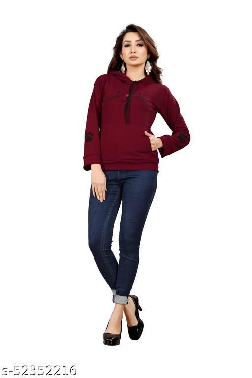 KPMART Fashionable Women's Hoodies (Maroon)