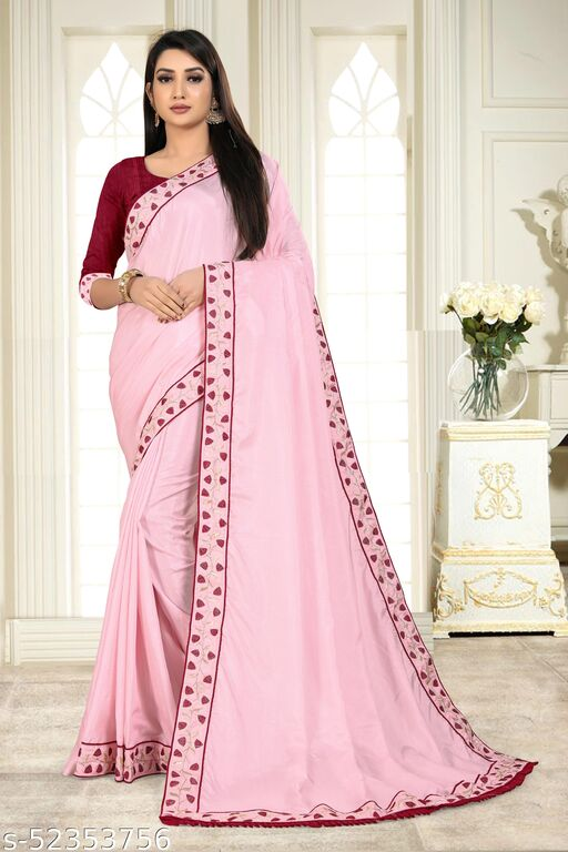 DFK-01 Vaidehi Saree Pink Un-stiched