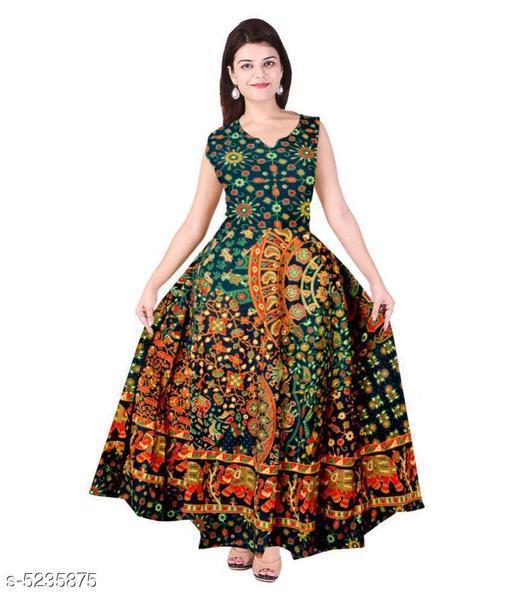 Trendy Women's Jaipuri printed Gown