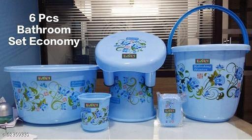 Bathroom set with bucket 06 Pieces Heavy Duty, Large Capacity