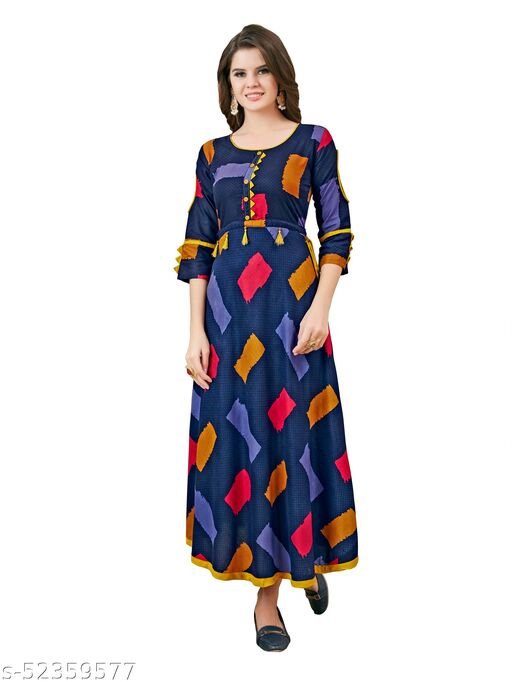 Women's Rayon Fabric Classic A-Line Gown