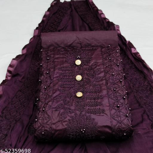 Heavy Designer Pc Cotton Unstiched Embroiderd Dress Material