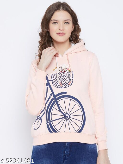 FirstKrush Casual Printed Winterwear SweetShirt For Women