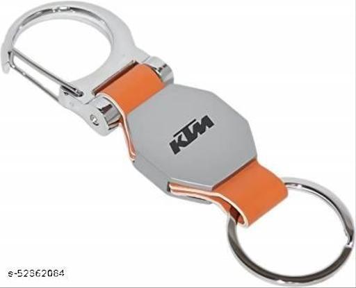 Caballo remium Quality KTM logo Double side hook - Orange Key Chain