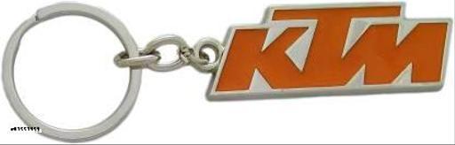 Caballo KTM Duke Bike Logo Orange & Silver Metal Keychain for Car Bike Men Women Keyring Key Chain