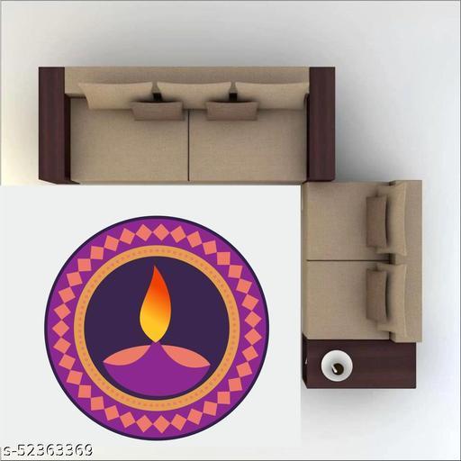 Saiii Designs  Diwali Special - Colourful Decorative Rangoli Sticker Size- 30 cm x 30 cm Set of 1