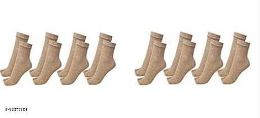 Women's Woollen Thumb Socks (Skin, Free Size) - Pack of 8