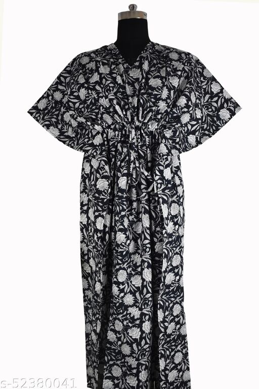 DESIGNER COMFORT WEAR KAFTAN HIGH QUALITY PRINTED PURE COTTON FROM RAJASTHAN FOR GIRLS AND WOMEN KAFTANS