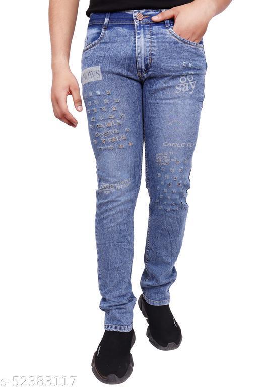 Stylish Trendy Western Wear Strechable Ripped Men Jeans