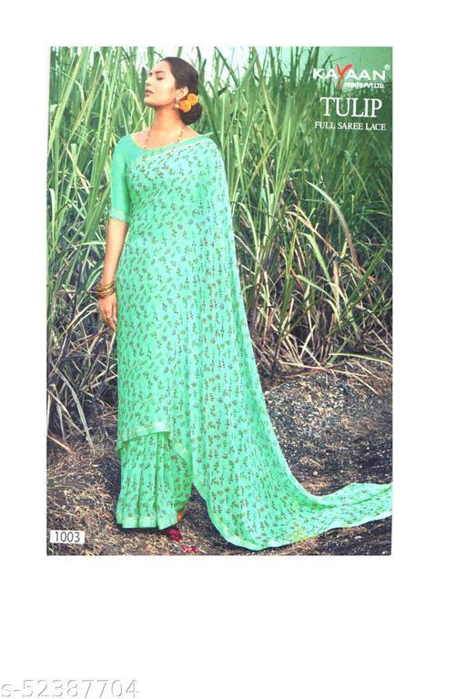 Printed Saree & Blouse