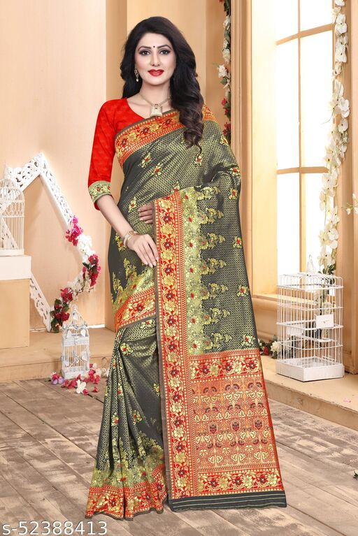Traditional wear is the new trend  Soft Lichi Silk Saree