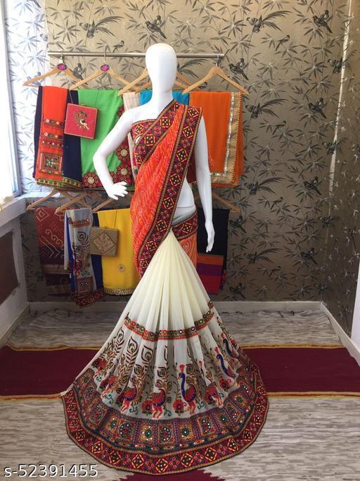 Woman's Arrivals Festival Bandhani Pallu Embroidred Saree