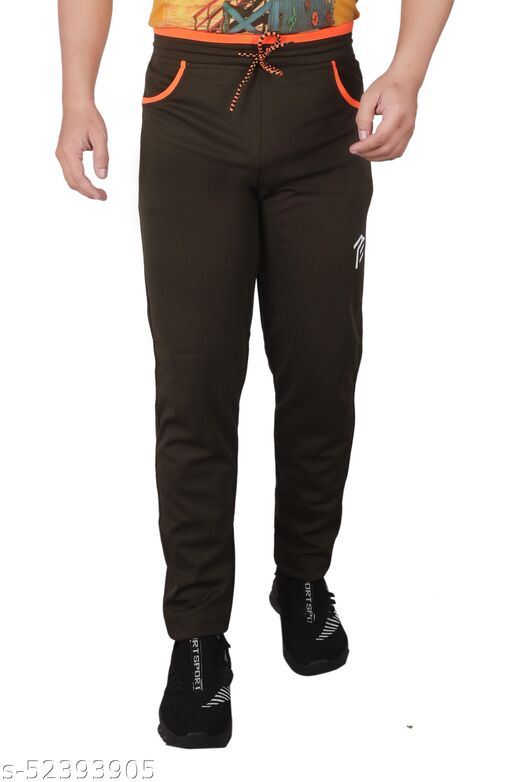 Pro Ethic Men's Lycra Track Pants For men Sports With Front Slant Pockets Strethcable Trouser Pack Of 1