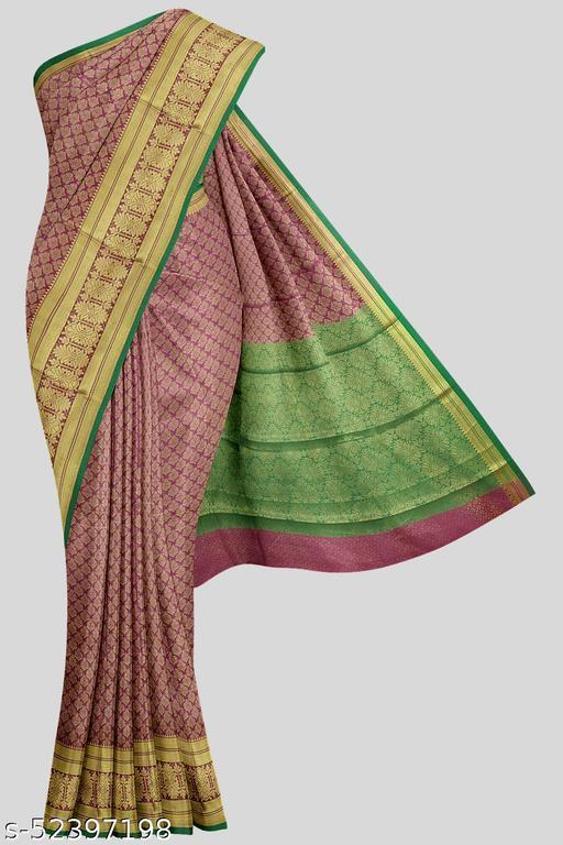 Kalamandir Purple Poly Silk Saree with Blouse piece
