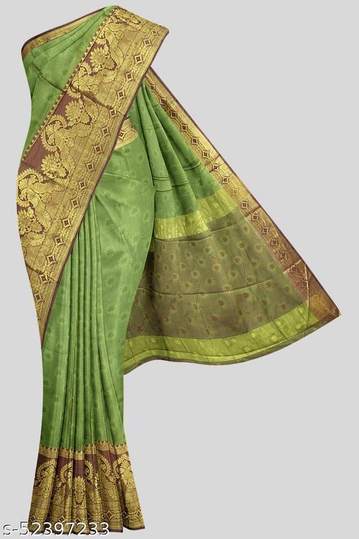 Kalamandir Green Florals Poly Silk Saree with Blouse piece