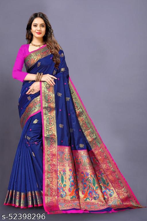Latest New Arrival Soft Pethani Silk Saree New Navy-Blue Color Saree New Arrival Pethani Top Selling Saree Under 1000