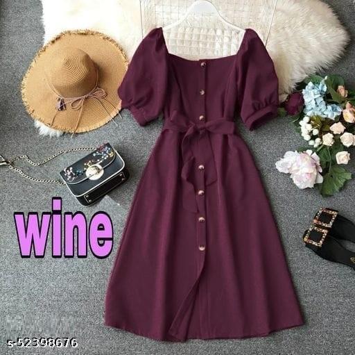 Women's Solid Attractive  Dresses