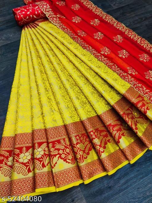 Siya Fashion Banarasi Un-Stitchd Lehenga Choli