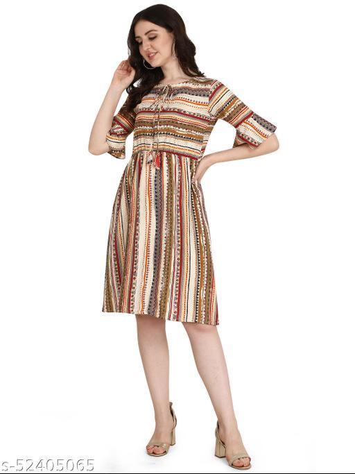 Diwali Special New Arrival Stylish Rayon  Dress