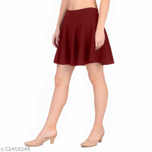 Get Romance Flared Skater Skirt for Girls/Women