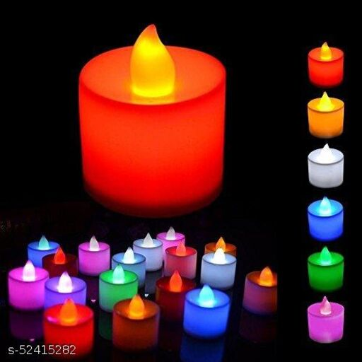 Decorative Tealight LED Candles Light Combo for Diwali Decoration   Decorative LED Candles for Home Decoration   Battery Operated Candle Lights (PACK OF 24 , Color Changing LED Candle)