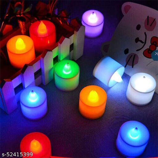 Decorative Tealight LED Candles Light Combo for Diwali Decoration   Decorative LED Candles for Home Decoration   Battery Operated Candle Lights (PACK OF 10 , Color Changing LED Candle)
