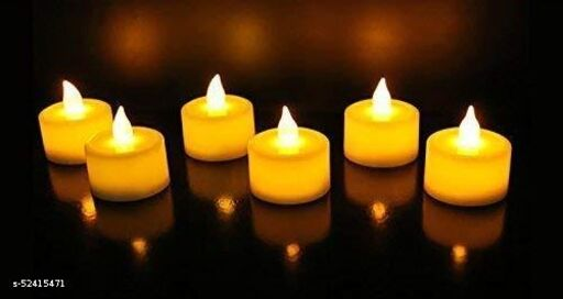 Decorative Tealight LED Candles Light Combo for Diwali Decoration   Decorative LED Candles for Home Decoration   Battery Operated Candle Lights (PACK OF 10 , YELLOW LED LIGHT)