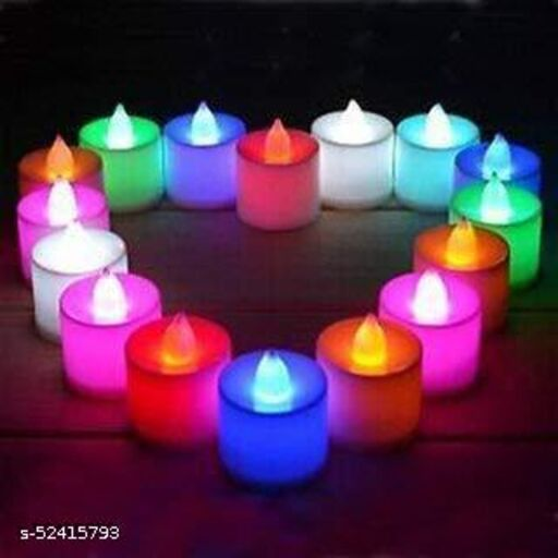 Decorative Tealight LED Candles Light Combo for Diwali Decoration   Decorative LED Candles for Home Decoration   Battery Operated Candle Lights (PACK OF 15 , Color Changing LED Candle)