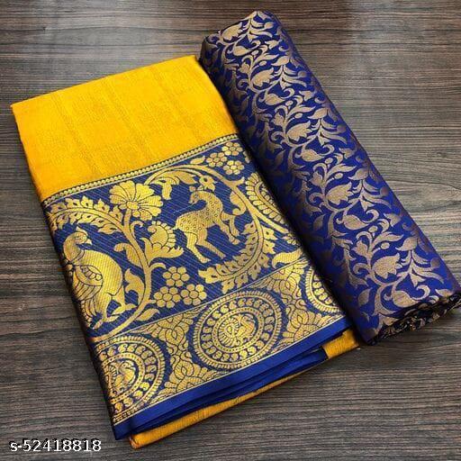 Wamsi Designer Hiran Mor Cotton Silk Jacard Saree