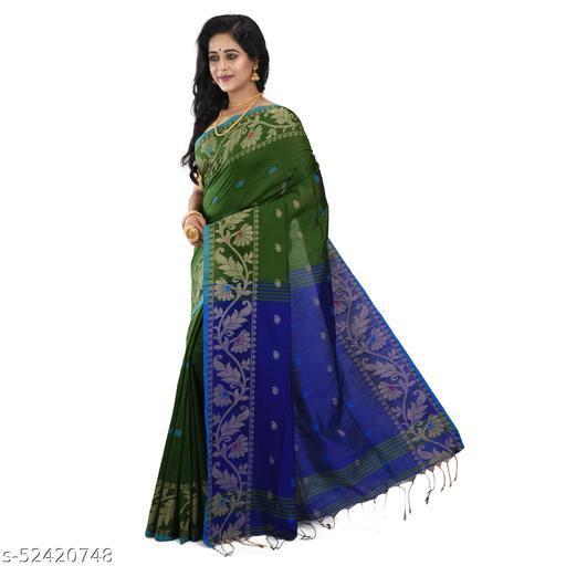 Handloom Embrodired Silk Cotton Saree