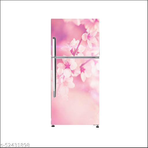 Abstract flower wallpaperLarge Single Door Fridge Wallpaper And Decal Self Adhesive Fridge Wallpaer_Water Droplet Print