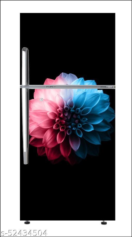 Black drakLarge Single Door Fridge Wallpaper And Decal Self Adhesive Fridge Wallpaer_Water Droplet Print Sticker