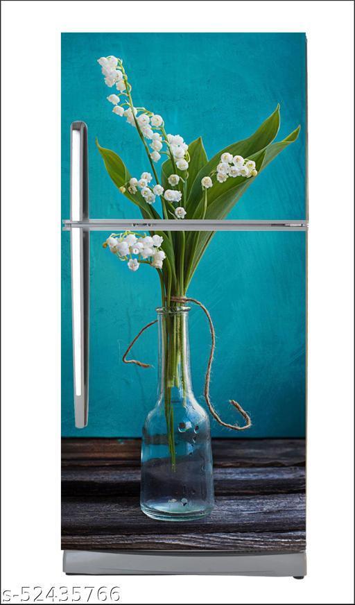 Flower WallpaperLarge Single Door Fridge Wallpaper And Decal Self Adhesive Fridge Wallpaer_Water Droplet Print