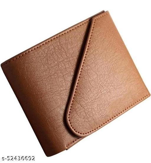 MEN CASUAL ARTIFICIAL LEATHER WALLET FOR MEN ( 5 CARD SLOT ) TAN