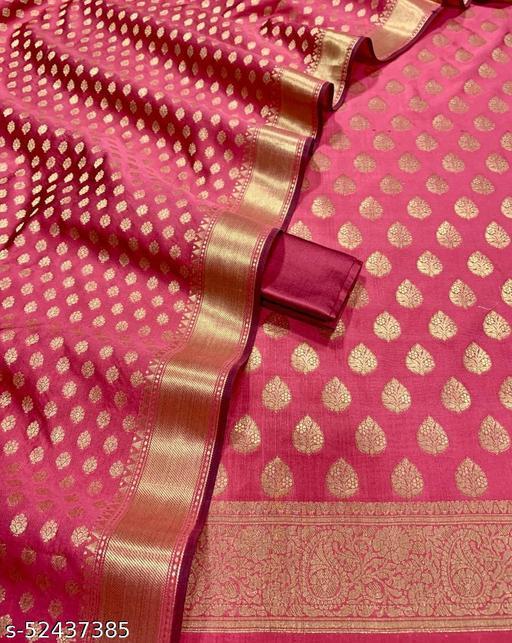 (12Peach) Weddings Special Banarsi Silk Suit And Dress Material