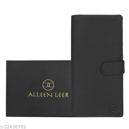 Genuine Leather Document Passport Holder Cover Case RFID Blocking Travel Accessory Wallet (Dark Brown)