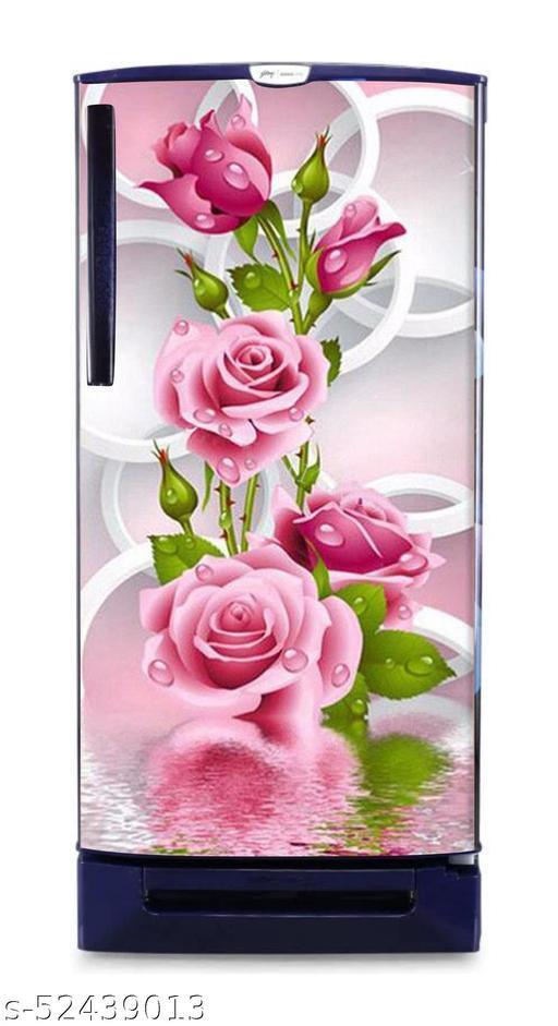 Rose pink flowers  wallpaper poster Adhesive Vinyl sticker fridge wrap decorative sticker (pvc vinyl covering area 60cm X 160cm )FG0369