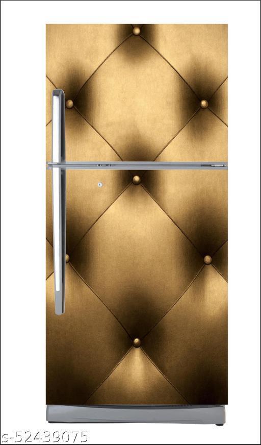 Abstract decorative 3d decorative golden3d design with black background full fridge cover extra large fridge sticker fridge wallpape  large  (pvc vinyl covering area 60cm X 160cm )FG0295