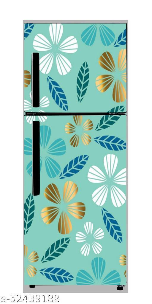 Purely Flower Fridge Sticker  wallpaper poster Adhesive Vinyl sticker fridge wrap decorative sticker (pvc vinyl covering area 60cm X 160cm )FG0397 Decorative Stickers