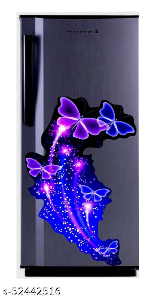 Sky blue butterfly  wallpaper poster Adhesive Vinyl sticker fridge wrap decorative sticker (pvc vinyl covering area 60cm X 160cm )FG0413