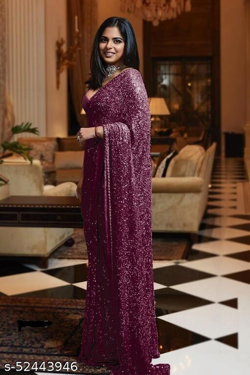 Full sequence work saree with tone to tone beautiful blouse