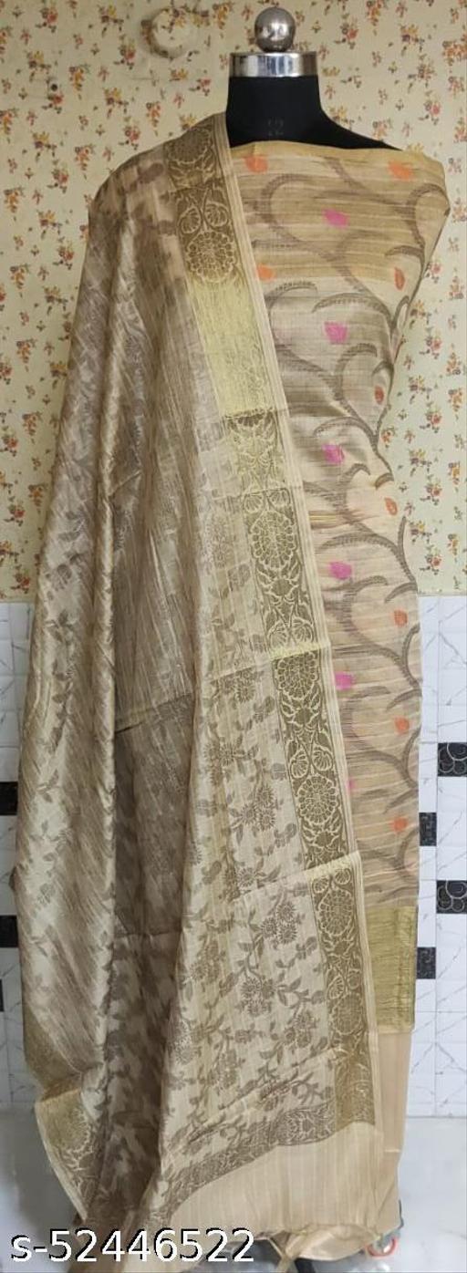 (R1Nude) Fabulous Summer Season Partywear Banarsi Cotton Suit And Dress Material