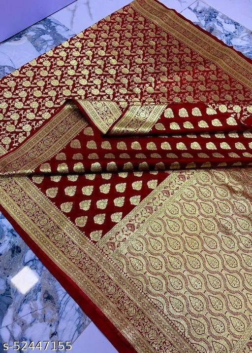 (R14Maroon) Weddings Special Banarsi Half Half Silk Saree