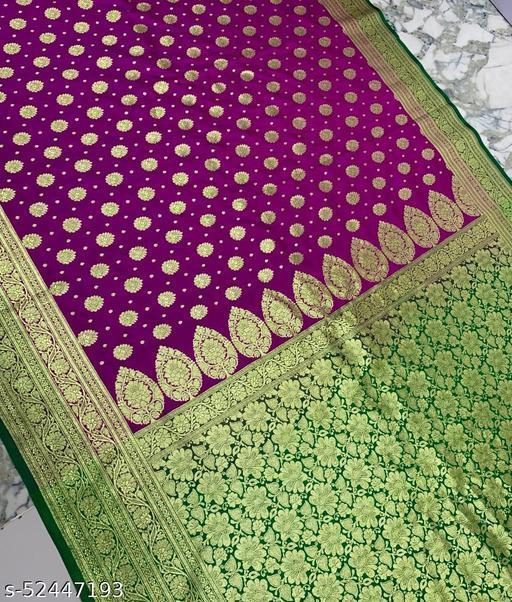 (R16Magenta) Fashionable Banarsi Silk Saree